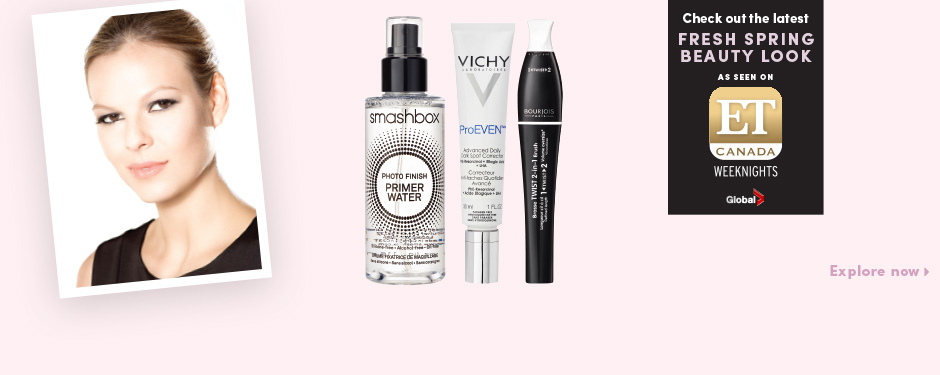 Check out the latest fresh spring beauty look