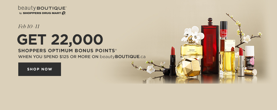 Earn Shoppers Optimum Points® at beautyBOUTIQUE.ca