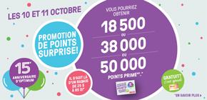 Promotion de points surprise!