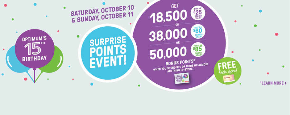 October 10-11 Surprise points event!
