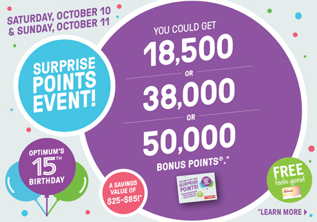 Get your surprise points card when you spend $75 or more on almost anything in-store.*