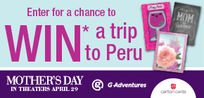 You could WIN* a Dream Adventure for 2 to Peru!