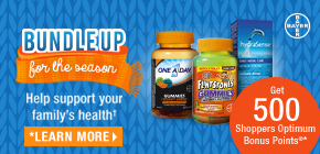 One A Day® Gummies, Flintstones™ Gummies or HydraSense®