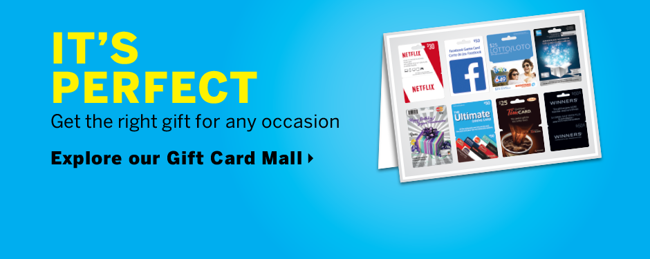 Explore our Gift Card Mall
