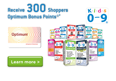 Get 300 Shoppers Optimum Bonus Points.