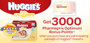 Get 3000 Pharmaprix Optimum Bonus Points®