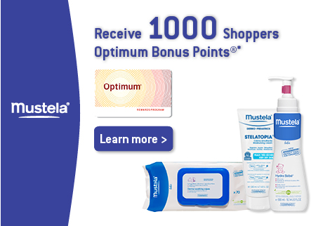 Get 1000 Shoppers Optimum Bonus Points.