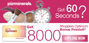Get 8000 Shoppers Optimum Bonus Points®* when you purchase a Pür Minerals' 5-Piece Start Now Kit