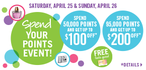 Spend your points for EVEN MORE free stuff!