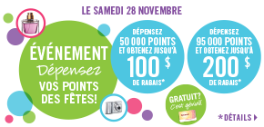 Super-promotion «Dépensez vos points!»