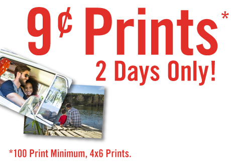4x6 Prints Just 9¢ - 2 Days Only!